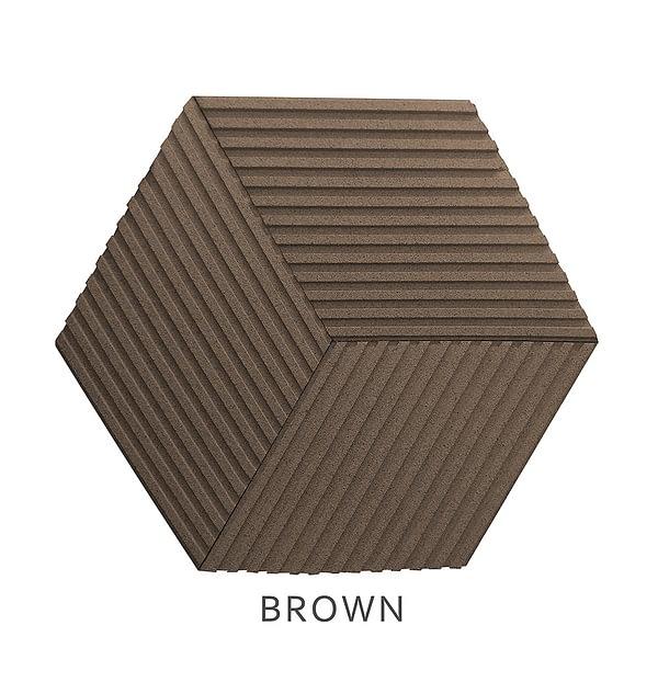 3D Wandpaneele Stripe BROWN