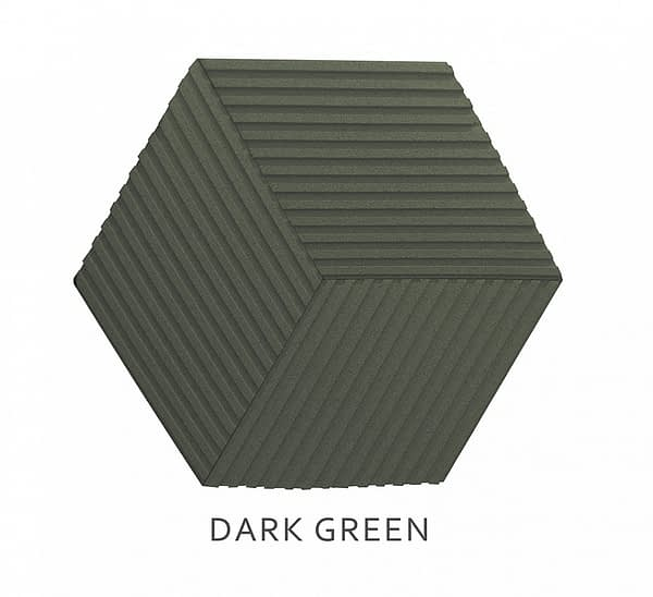3D Wandpaneele Stripe DARK GREEN