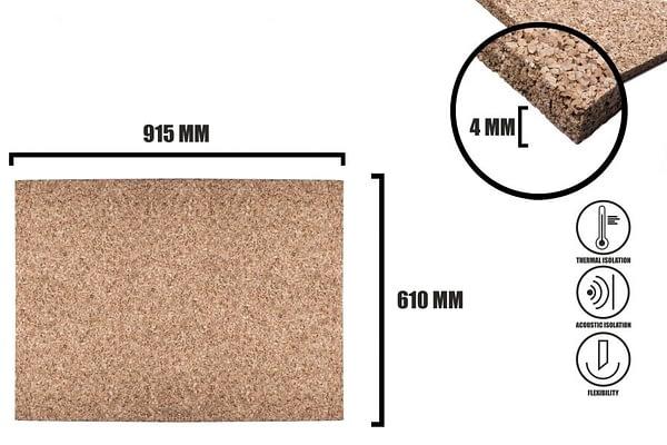 Korkplatten 4mm