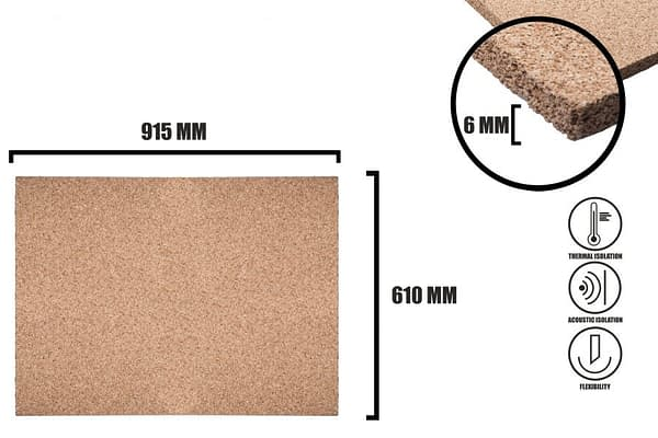 Korkplatten 6mm