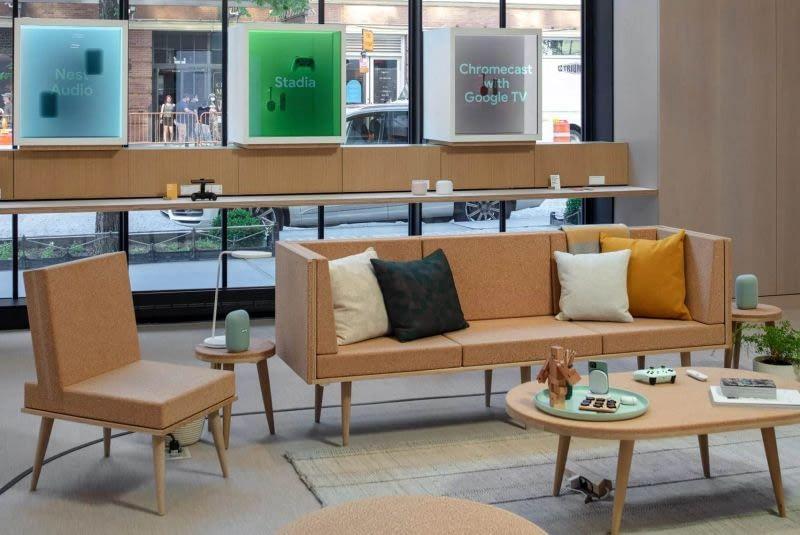 Korkmöbel in Googles erstem Laden in New York