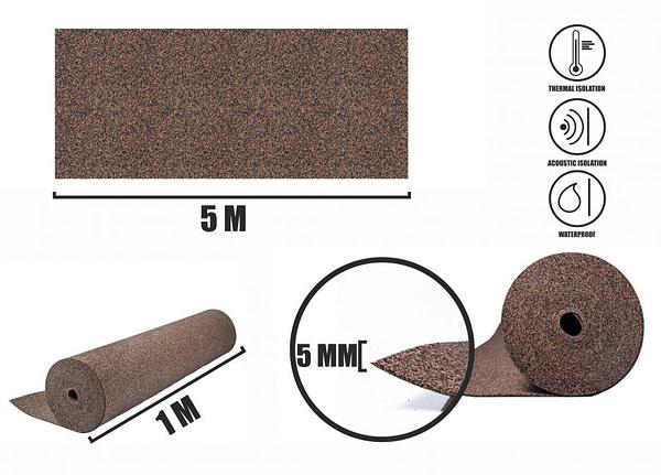 Gummi Rollenkork 5mm (5m)